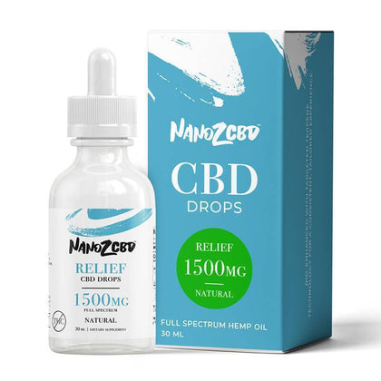 Nano Z CBD - CBD Tincture - Full Spectrum Natural Relief Drops - 1500mg-buy-CBD-online