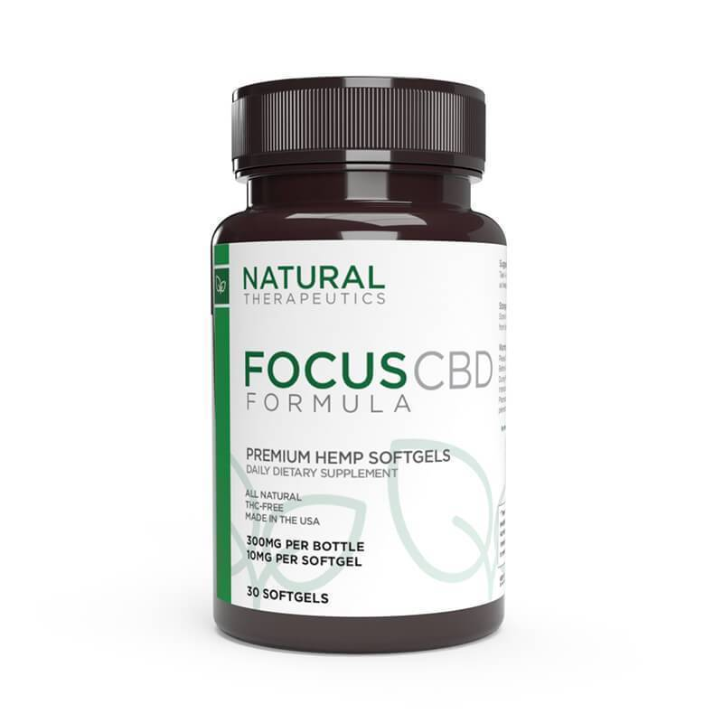 Natural Therapeutics - CBD Soft Gel Caps - Focus - 10mg