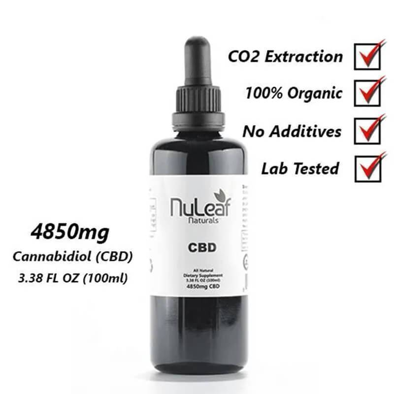 NuLeaf Naturals - CBD Tincture - Full Spectrum Extract - 4850mg