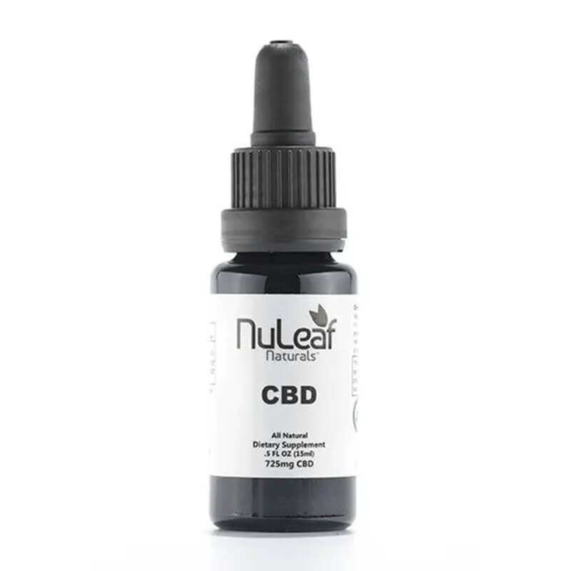 NuLeaf Naturals - CBD Tincture - Full Spectrum Extract - 725mg