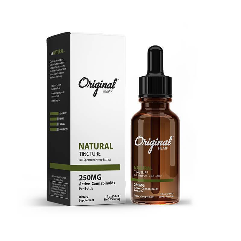 Original Hemp - CBD Tincture - Natural - 250mg-2000mg