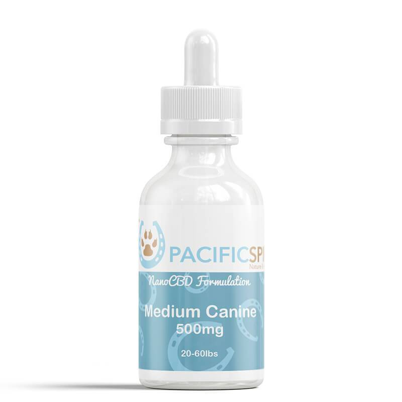 Pacific Spirit - CBD Pet Tincture - Full Spectrum Medium Canine CBD Drops - 500mg