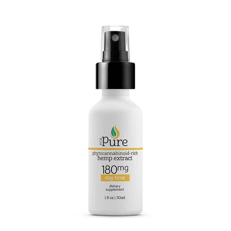 PCR Pure - CBD Tincture Spray - Full Spectrum Daytime Formula - 180mg