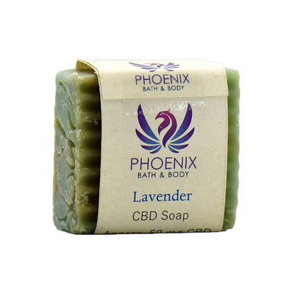 Phoenix Natural Wellness - CBD Bath - Lavender and Rosemary Soap - 50mg-buy-CBD-online
