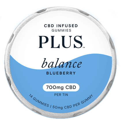 Plus CBD - CBD Edible - Balance Blueberry Gummies - 50mg-buy-CBD-online
