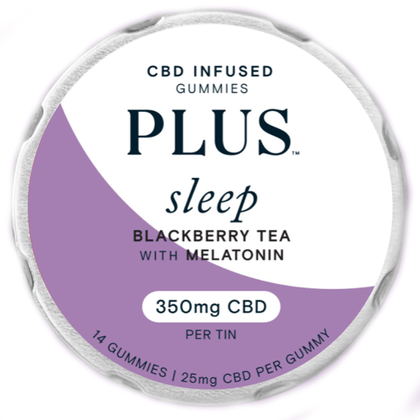 Plus CBD - CBD Edible - Sleep Blackberry Tea w/Melatonin Gummies - 25mg-buy-CBD-online
