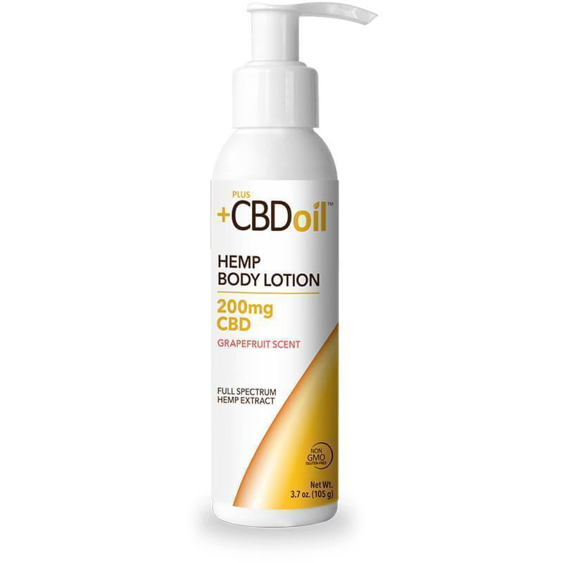 PlusCBD Oil - CBD Topical - Gold Body Lotion Grapefruit - 200mg