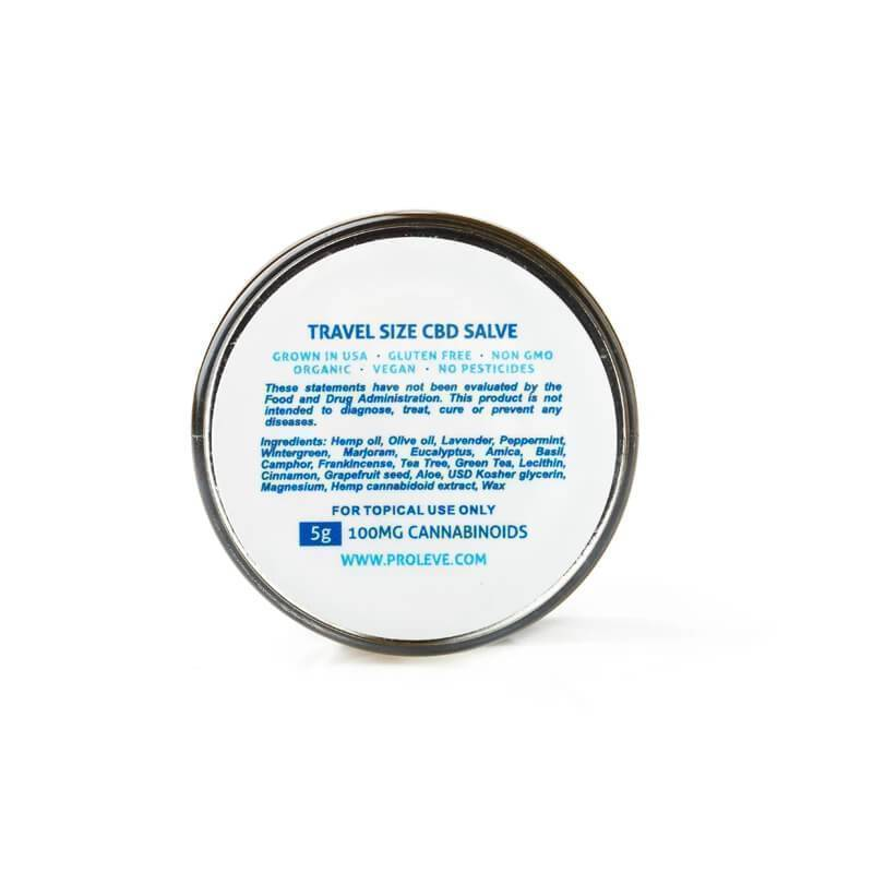 Proleve - CBD Topical - Travel Size Salve - 100mg