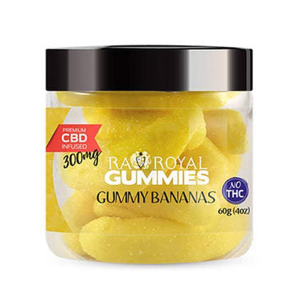 RA Royal CBD - CBD Edible - Gummy Bananas Gummies - 300mg-1200mg-buy-CBD-online