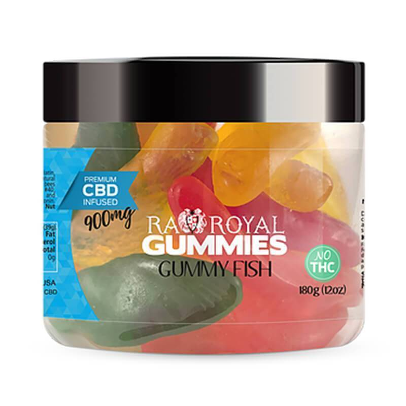RA Royal CBD - CBD Edible - Gummy Fish Gummies - 300mg-1200mg