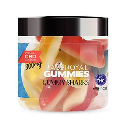 RA Royal CBD - CBD Edible - Gummy Sharks Gummies - 300mg-1200mg-buy-CBD-online