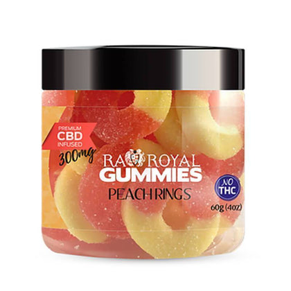 RA Royal CBD - CBD Edible - Peach Ring Gummies - 300mg-1200mg-buy-CBD-online