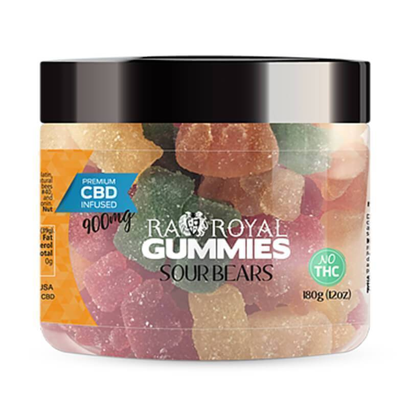 RA Royal CBD - CBD Edible - Sour Bears Gummies - 300mg-1200mg