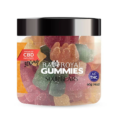 RA Royal CBD - CBD Edible - Sour Bears Gummies - 300mg-1200mg-buy-CBD-online