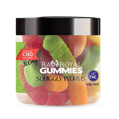 RA Royal CBD - CBD Edible - Squiggly Worms Gummies - 300mg-1200mg-buy-CBD-online
