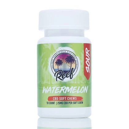 Reef - CBD Edible - Watermelon Sour Gummies - 25mg-buy-CBD-online