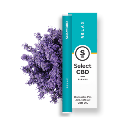 Select CBD - CBD Device - Relax Lavender Disposable Vape Pen - 250mg-buy-CBD-online