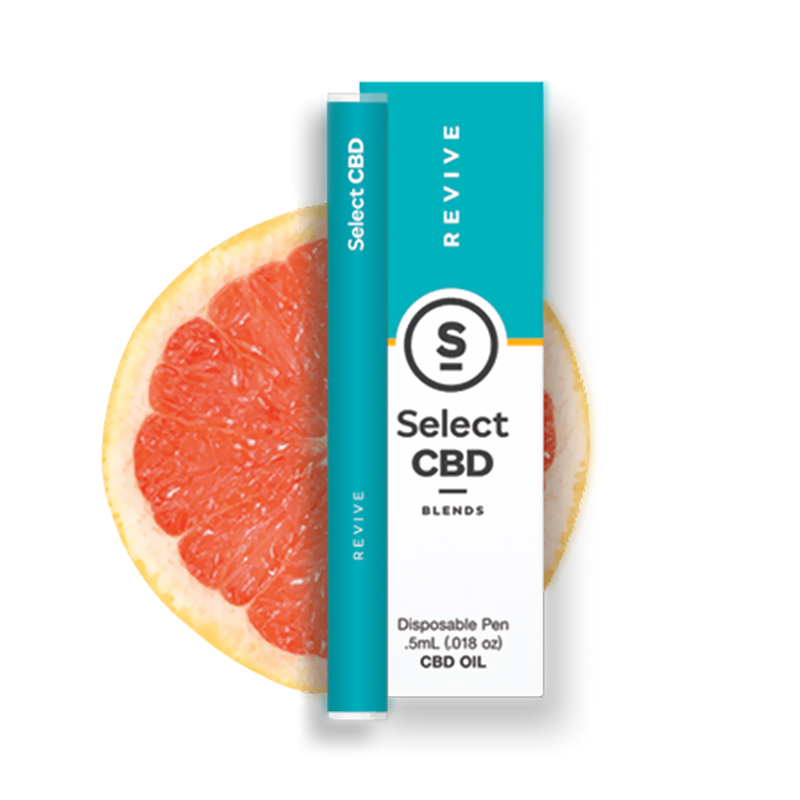 Select CBD - CBD Device - Revive Grapefruit Disposable Vape Pen - 250mg