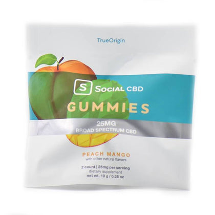 Social CBD - CBD Edible - Broad Spectrum Peach Mango Gummies - 12.5mg-buy-CBD-online
