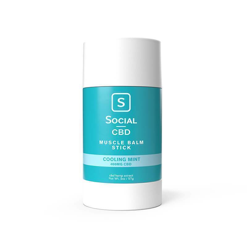 Social - CBD Topical - Cooling Mint Muscle Balm Stick - 400mg