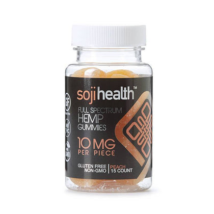 Soji Health - CBD Edible - Peach Gummies - 15pc-10mg-buy-CBD-online