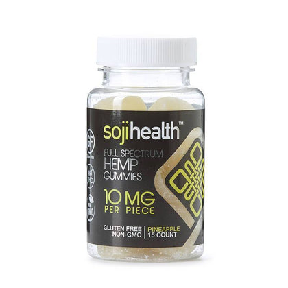 Soji Health - CBD Edible - Pineapple Gummies - 15pc-10mg-buy-CBD-online