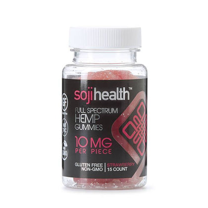 Soji Health - CBD Edible - Strawberry Gummies - 15pc-10mg-buy-CBD-online