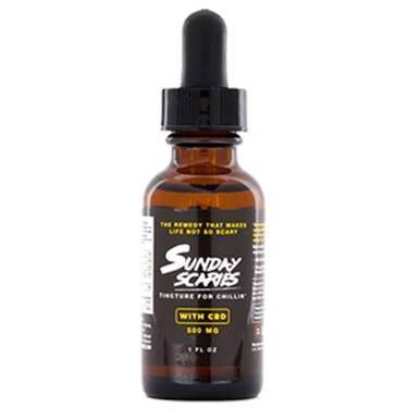Sunday Scaries - CBD Tincture - Broad Spectrum w/Vitamins B12 & D3 - 500mg