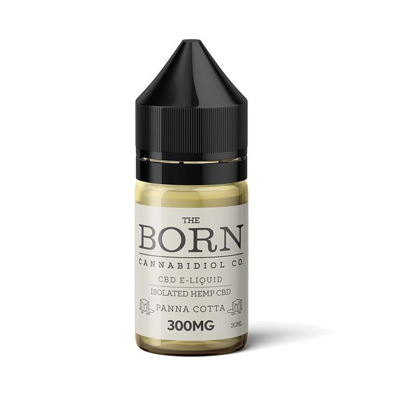 The Born Cannabidiol Co - CBD Vape Juice - Panna Cotta - 300mg-600mg