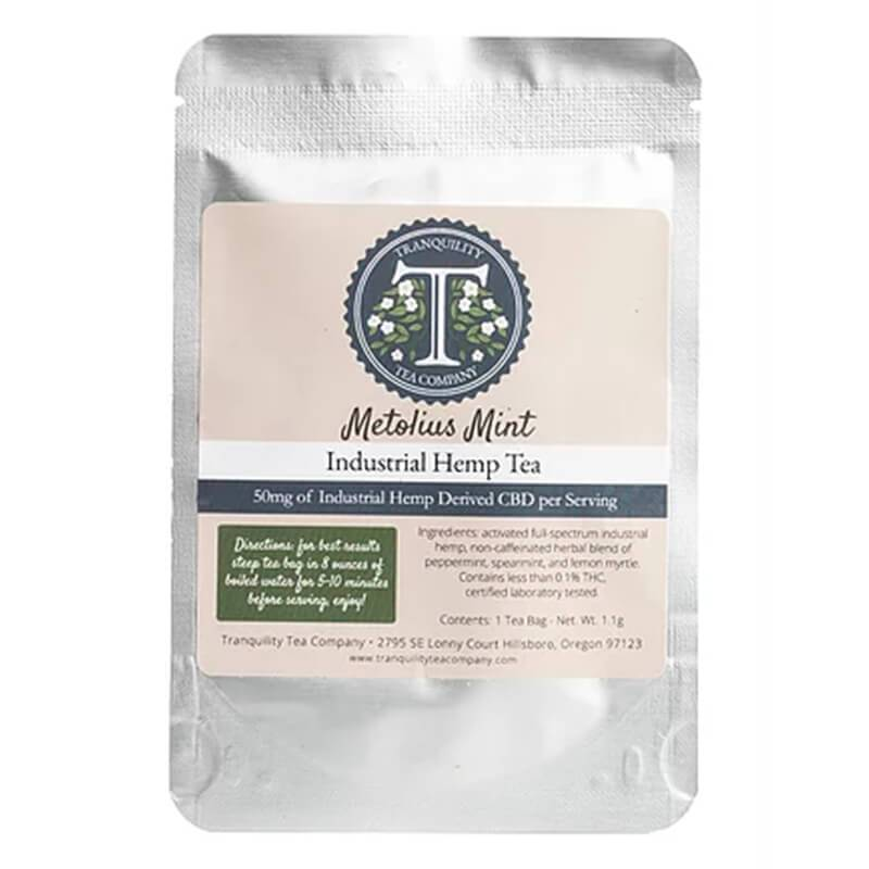Tranquility Tea Company - CBD Tea - Metolius Mint - 50mg