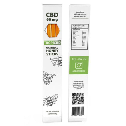 TropiCBD - CBD Edible - Natural Honey Stick - 20mg-buy-CBD-online