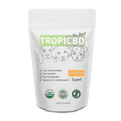 TropiCBD - CBD Pet Edible - Pumpkin Dog Treats - 4mg-buy-CBD-online