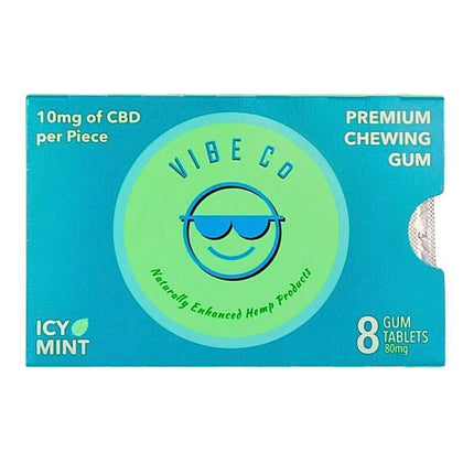 Vibe Co - CBD Edible - Icy Mint Chewing Gum - 10mg-buy-CBD-online