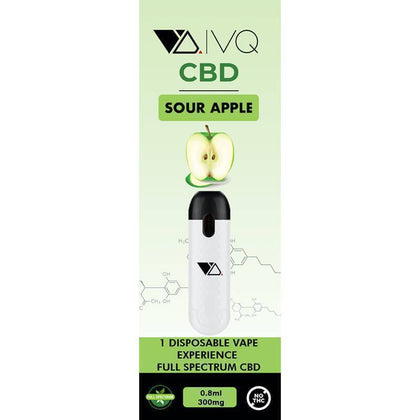 VQ CBD - CBD Disposable Vape Pen - Sour Apple - 300mg-500mg-buy-CBD-online