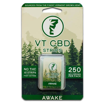 VT-CBD Goods - CBD Edible - Spearmint Awake Strips - 25mg-buy-CBD-online