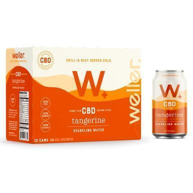 Weller - CBD Drink - Tangerine Sparkling Water - 25mg