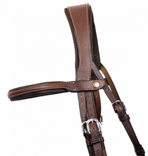 Load image into Gallery viewer, Grained Leather Flash Bridle by Antares