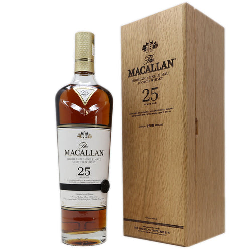 Macallan 25 Years, 43%, 70 Cl. Sherry Wood, 2018 Release
