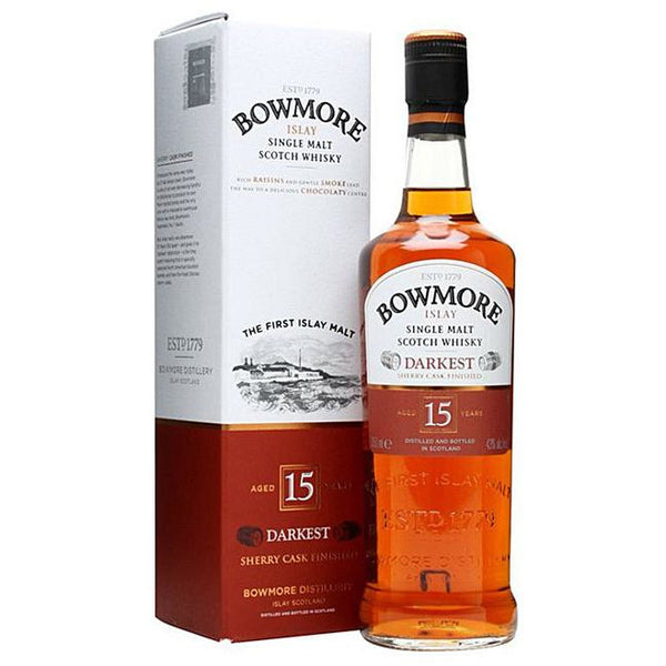 Bowmore Darkest 15 Years, 43%, 70 Cl. - Ludv. Bjørns Vinhandel