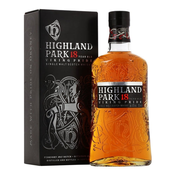 Highland Park, 18 Years Old, Viking Pride, 43%, 70 cl. - Ludv. Bjørns Vinhandel