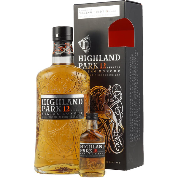 Highland Park, 12 Years Old, 70 cl + 5 cl  18 years - Ludv. Bjørns Vinhandel