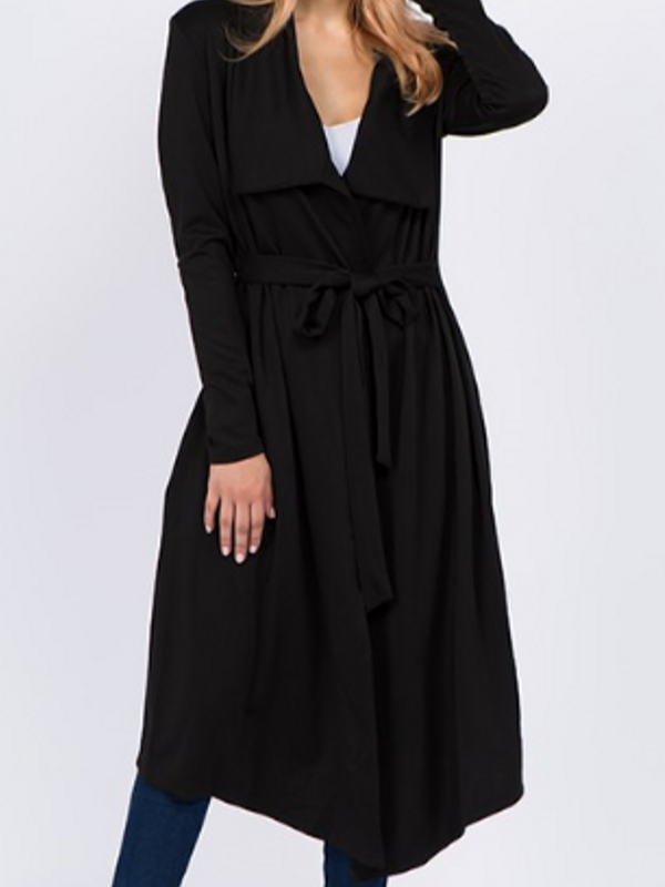 'Carrie' Black Trench Cardigan