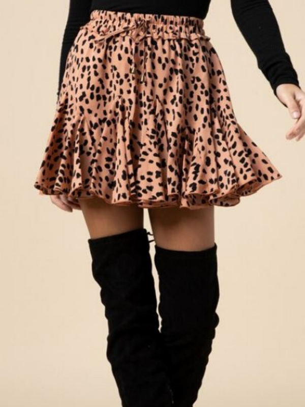 'Mara' Animal Print Skirt (Multiple Colors)