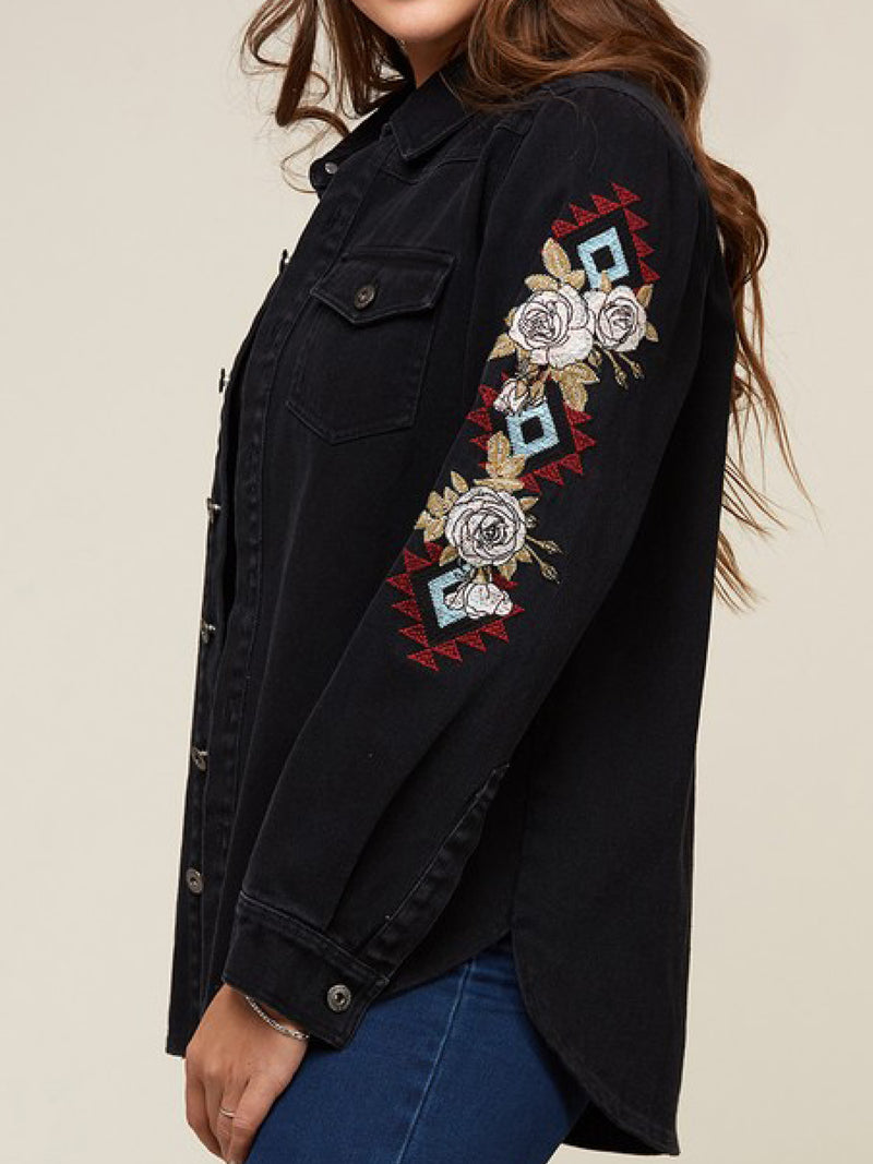 'Jane' Black Denim Jacket