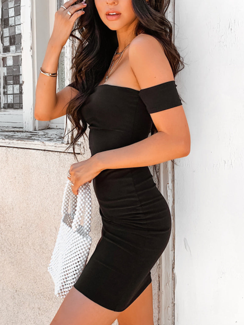 'Ariana' Off-the-Shoulder Bodycon Mini Dress