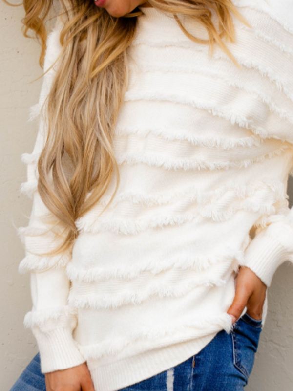 'Farrah' Fringe Sweater
