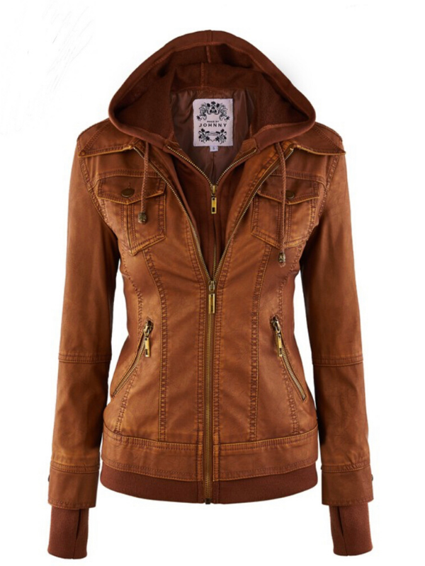 'Serena' Faux-Leather Jacket