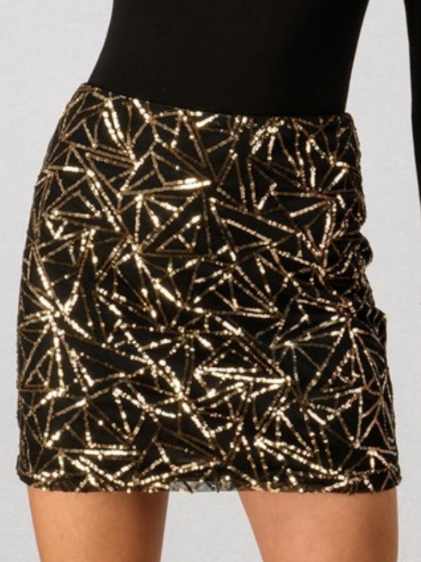 'Christina' Sequin Skirt