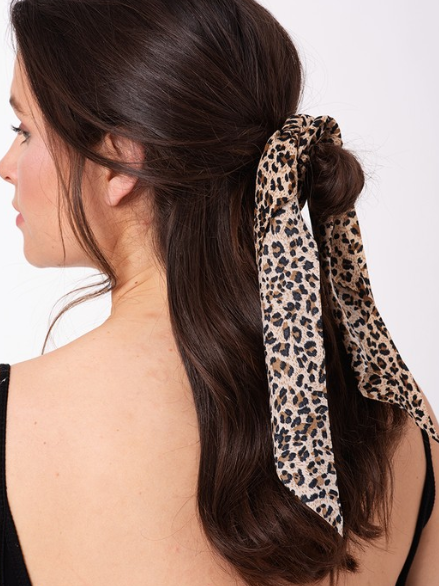 'Jordie' Animal Print Scrunchie + Scarf