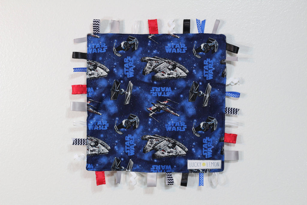 Snuggle Blanket made with Star Wars Fabric